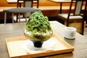 希少な夏抹茶を贅沢に使用したかき氷「SALON GINZA SABOU」