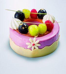 ぶどうとレモンのケーキ