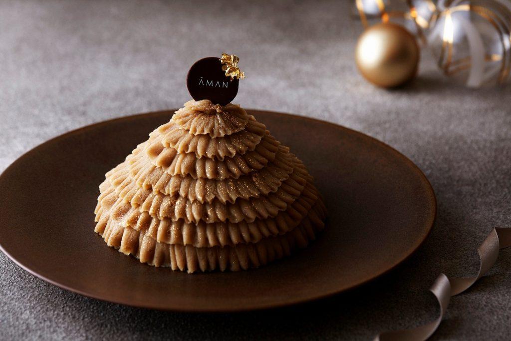 アマン東京 オリジナル クリスマスケーキ「モンブラン」