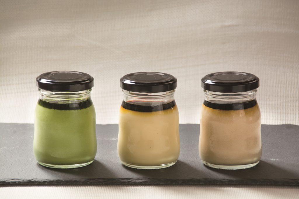 和菓子屋ならではの素材を使用した新発売3種のプリン