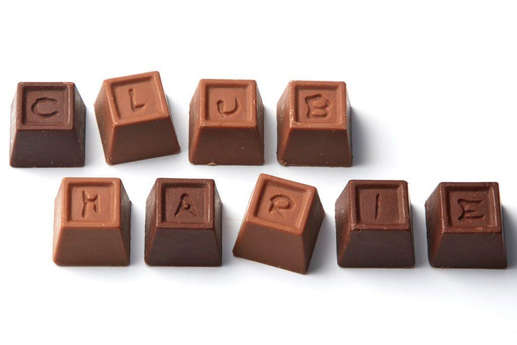 名糖×CLUB HARIE アルファベットチョコレート