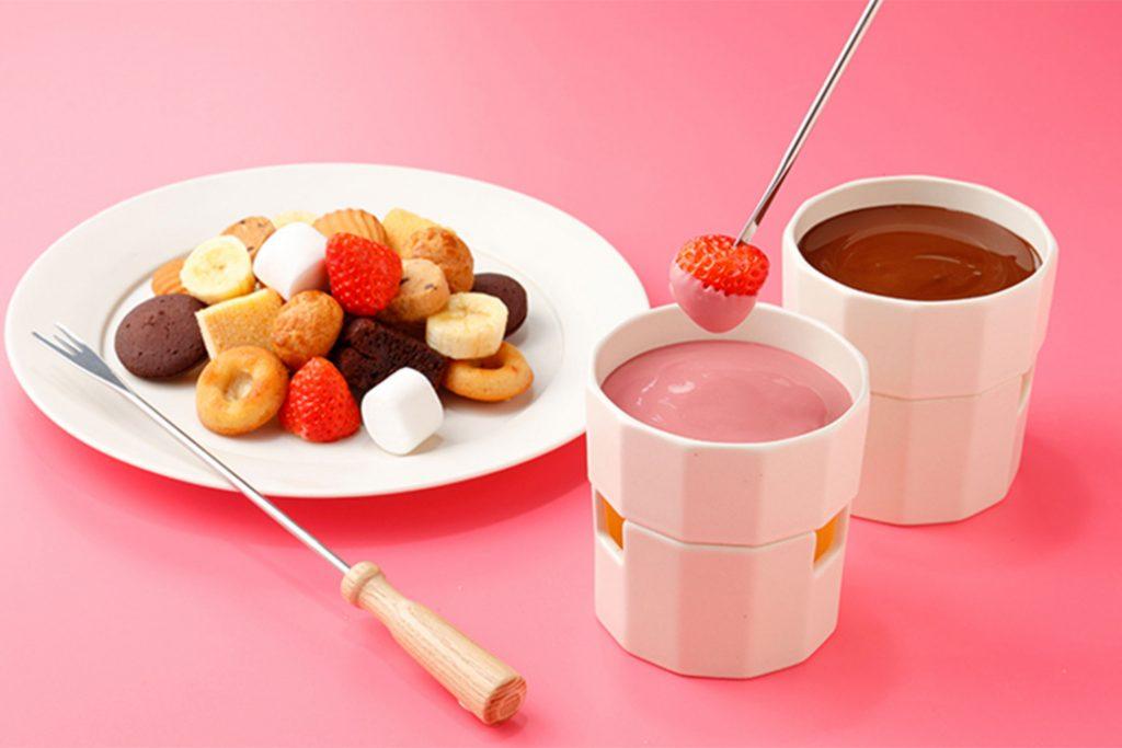 横浜チョコレートファクトリー&ミュージアム「チョコレートフォンデュ ルビー&ダーク」
