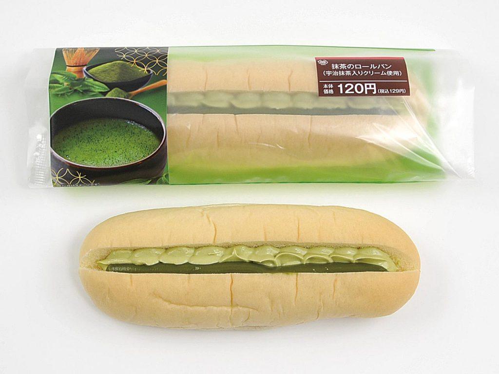 抹茶のロールパン(宇治抹茶入りクリーム使用)