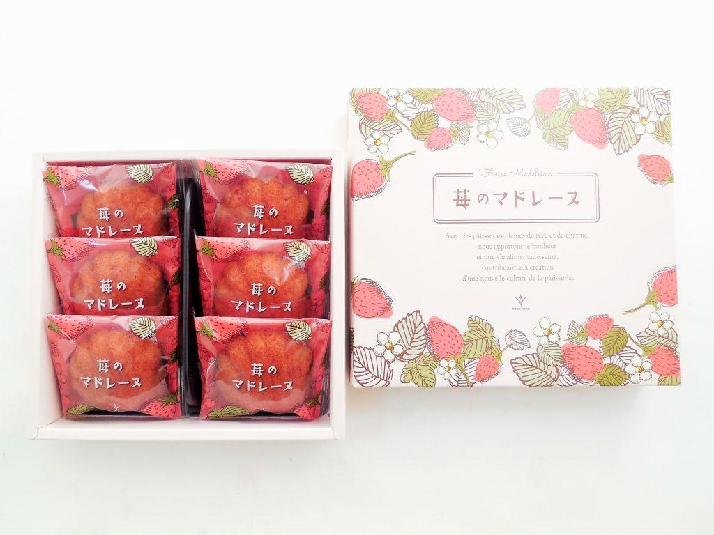 苺のマドレーヌ