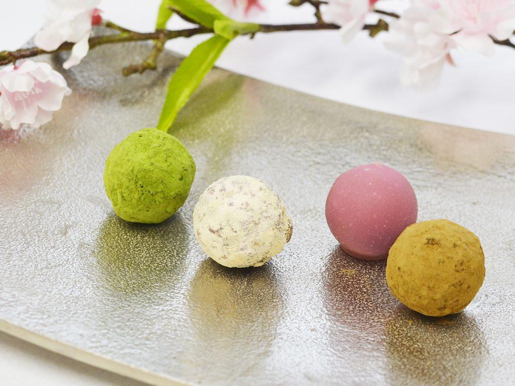 無添加ハードトリュフ「ルビーチョコレート×桜」1