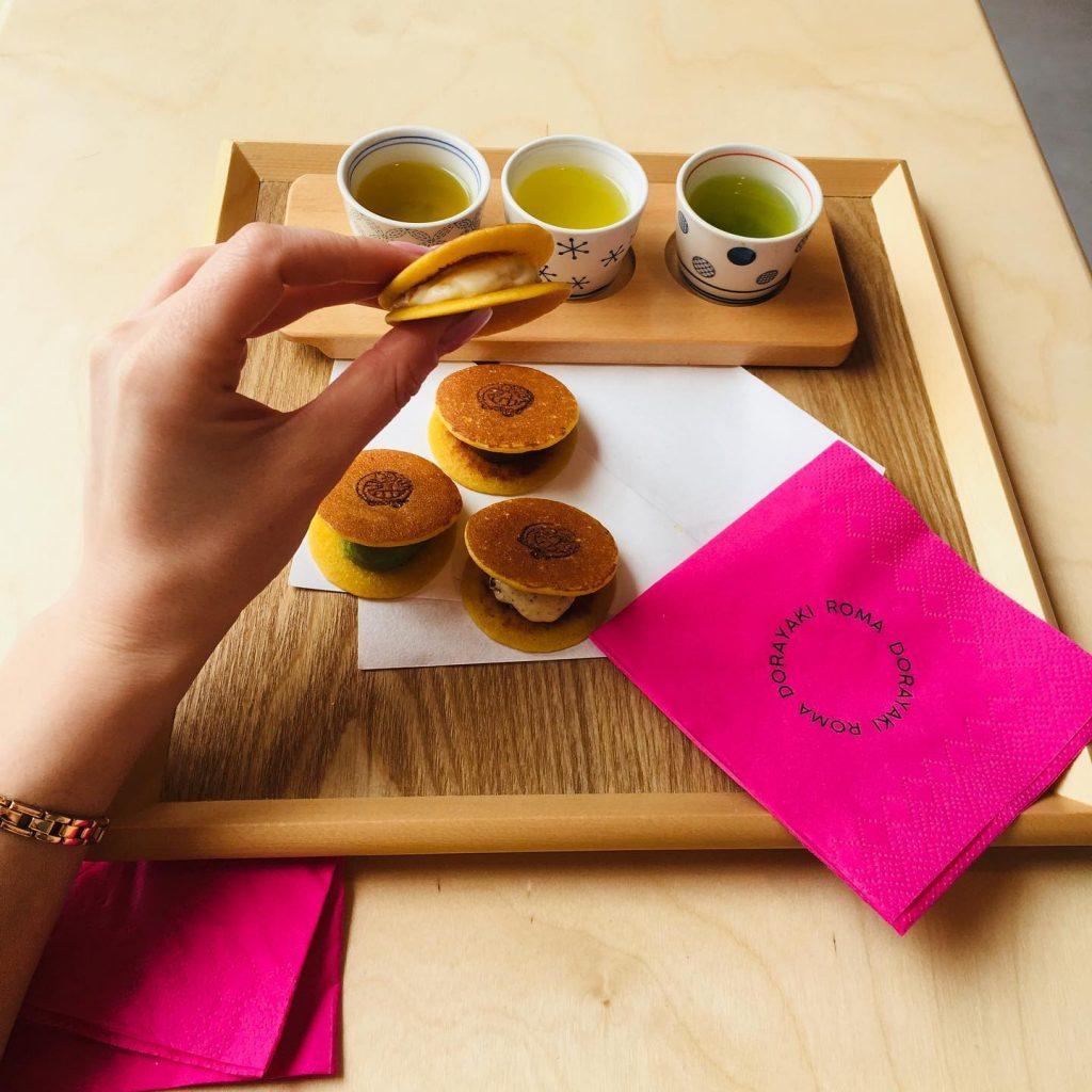 ミニどら焼きと日本茶テイスティング