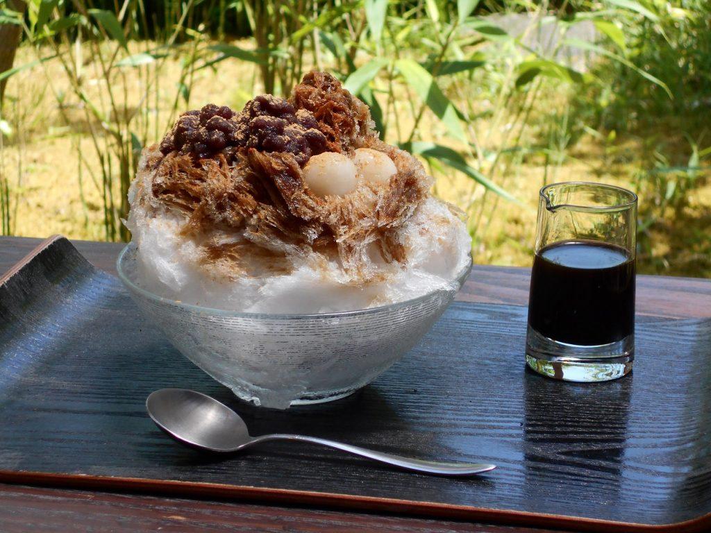 丹波大納言小豆と黒蜜のかき氷