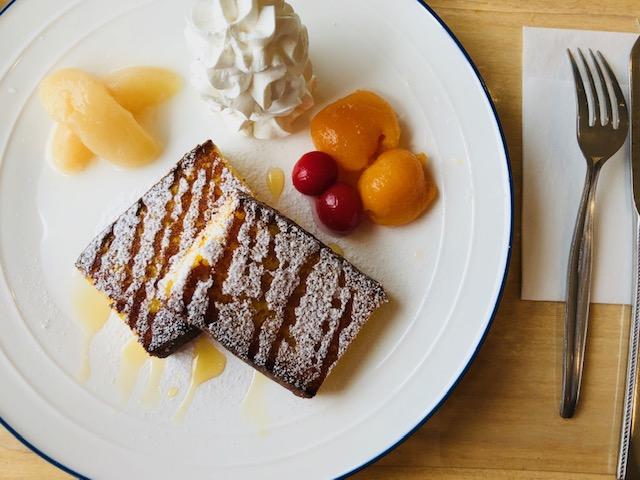 五三焼カステラのフレンチトースト